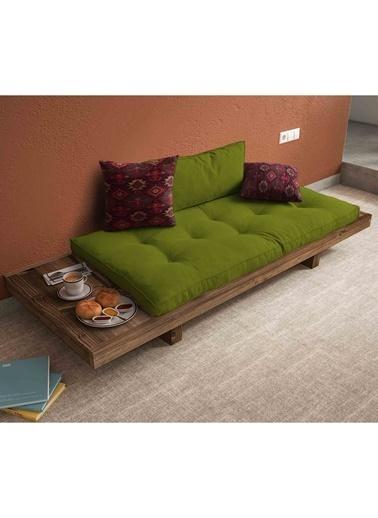 Woodesk Arin Masif Ceviz-Yeşil Renk Sedir Yeşil